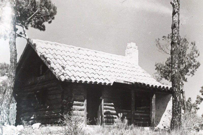Cabaña Pino Torcido en 1958