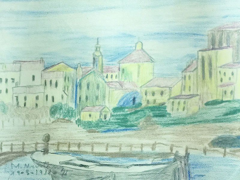 Primer dibujo de Manolo.  San Sebastián  1938
